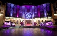 Świecące logo Volkswagen
