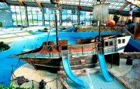 Stary, piracki wrak łodzi, Aquapalace Praga